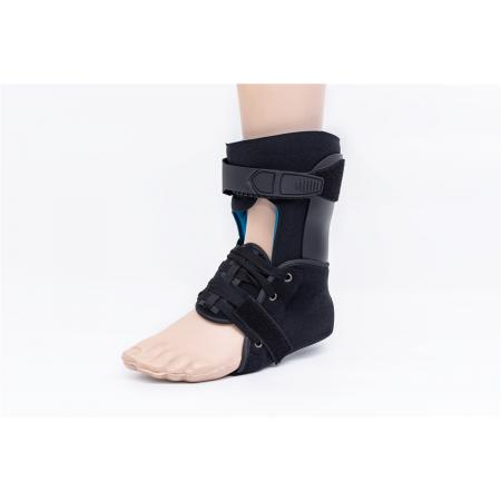 Hinged leg ankle boot stabilizers and immobilizers