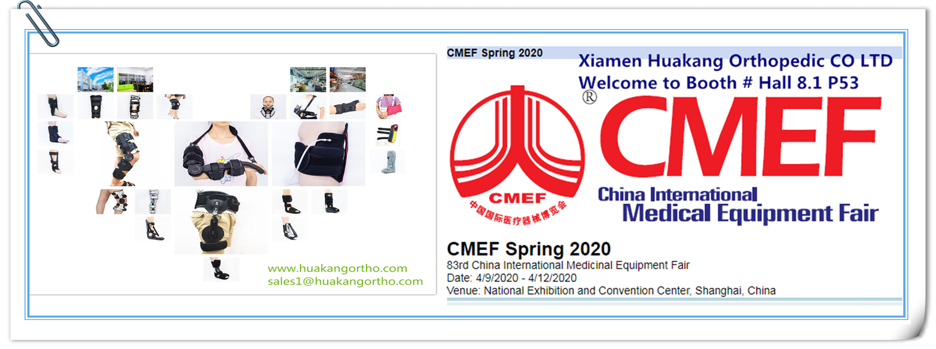 Medical Devices orthopedic braces Manufacturer at CMEF